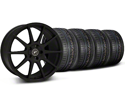 Forgestar CF10 Monoblock Textured Black Wheel NITTO INVO Tire Kit - 19x9 (05-14 All)