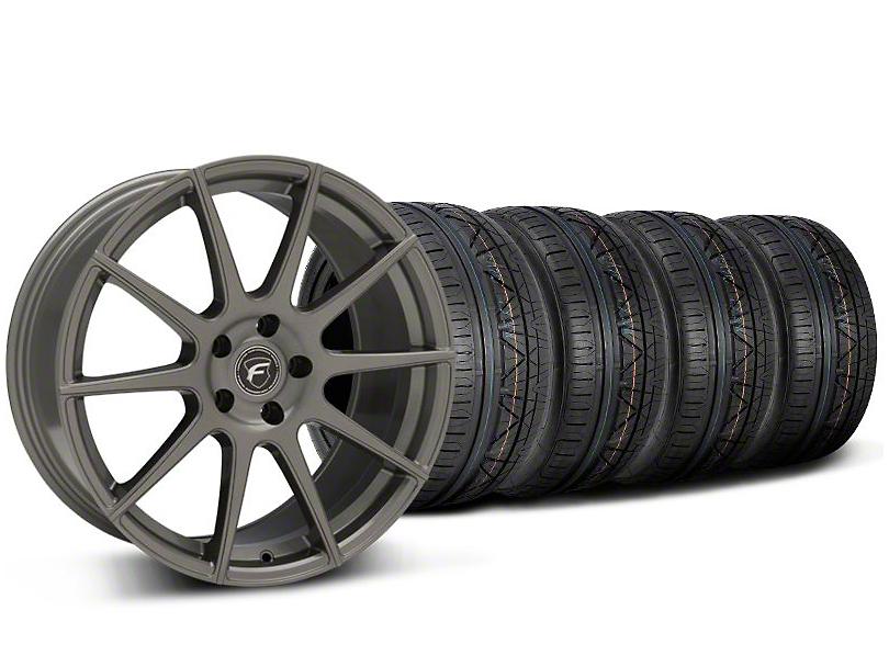 Forgestar CF10 Monoblock Gunmetal Wheel & NITTO INVO Tire Kit - 19x9 (05-14 All)