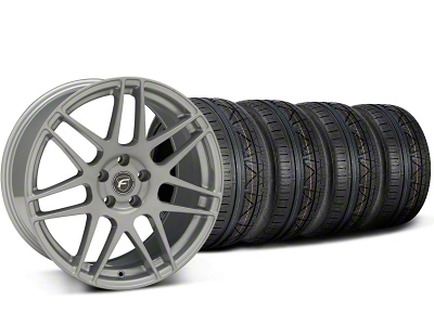 Forgestar F14 Monoblock Silver Wheel & NITTO INVO Tire Kit - 19x9 (05-14)