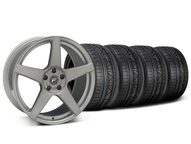 Forgestar CF5 Monoblock Silver Wheel & NITTO INVO Tire Kit - 19x9 (05-14)