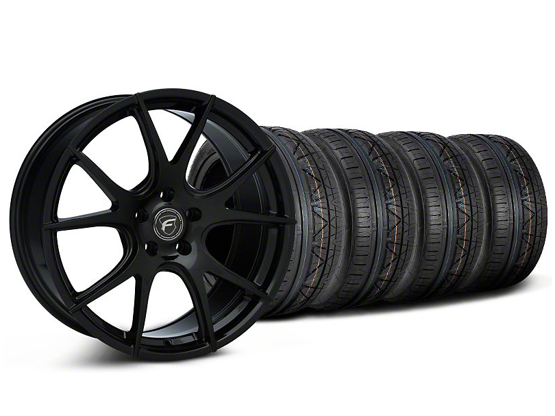 Forgestar CF5V Monoblock Piano Black CF5V Monoblock Wheel & NITTO INVO Tire Kit - 19x9 (05-14)
