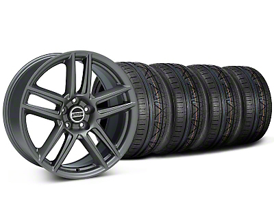Laguna Seca Style Charcoal Wheel & NITTO INVO Tire Kit - 19x9 (05-14)