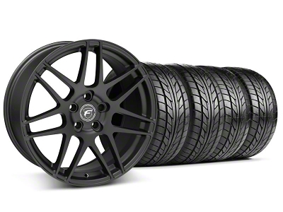 Forgestar F14 Monoblock Matte Black Wheel NITTO Tire Kit - 20x9 (05-14)