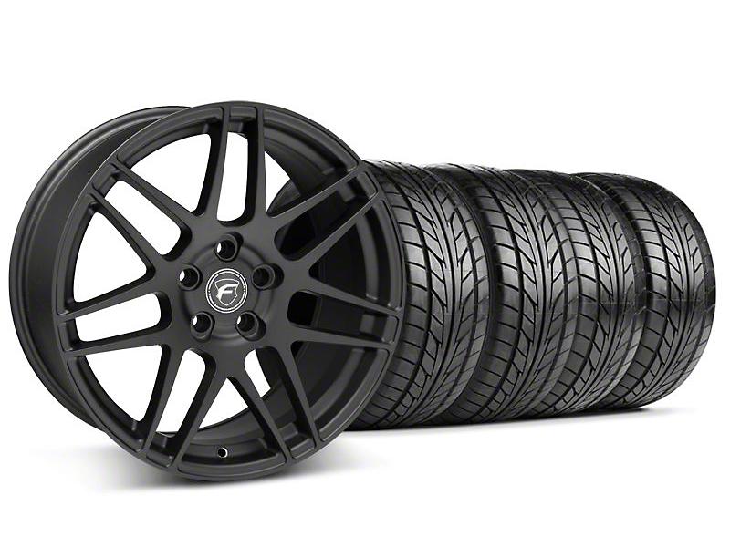 Forgestar F14 Monoblock Matte Black Wheel NITTO Tire Kit - 20x9 (05-14)