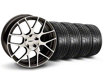TSW Nurburgring Matte Gunmetal Wheel & Mickey Thompson Tire Kit - 19x8.5 (05-14)