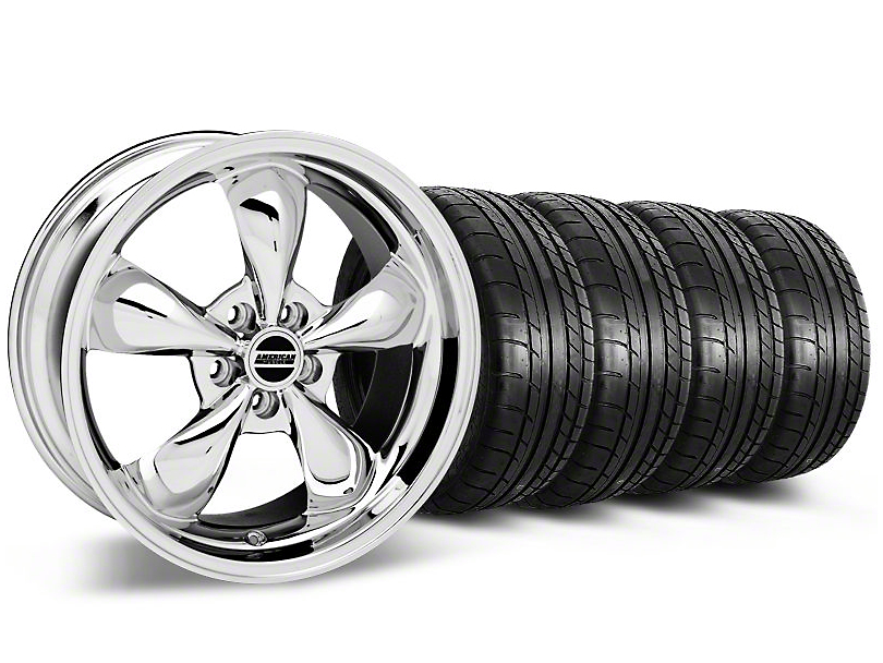 Bullitt Chrome Wheel & Mickey Thompson Tire Kit - 19x8.5 (05-14 GT, V6)