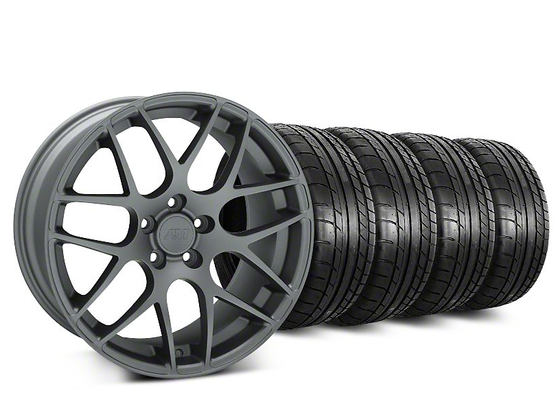 AMR Charcoal Wheel & Mickey Thompson Tire Kit - 19x8.5 (05-14 All)
