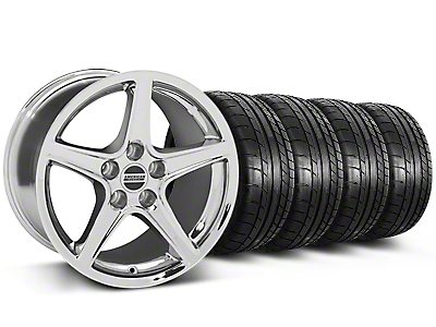 Saleen Chrome Wheel & Mickey Thompson Tire Kit - 19x8.5 (05-14 GT, V6)
