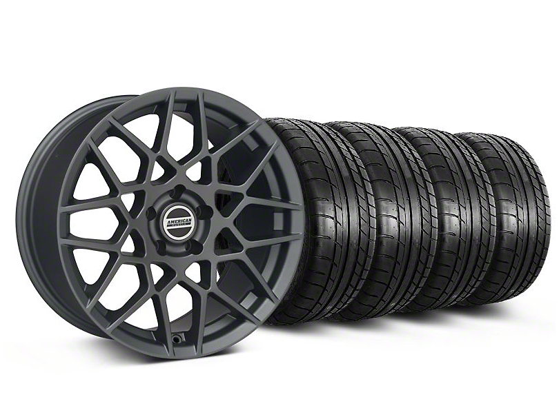 2013 GT500 Style Charcoal Wheel & Mickey Thompson Tire Kit - 19x8.5 (05-14 All)