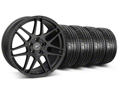 Forgestar F14 Monoblock Matte Black Wheel & Mickey Thompson Tire Kit - 19x9 (05-14 All)