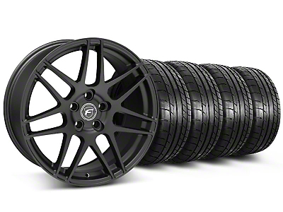Forgestar F14 Monoblock Matte Black Wheel & Mickey Thompson Tire Kit - 19x9 (05-14 All)