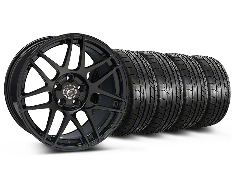 Forgestar F14 Monoblock Gloss Black Wheel & Mickey Thompson Tire Kit - 19x9 (05-14 All)
