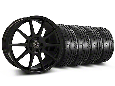 Forgestar CF10 Monoblock Piano Black Forgestar CF10 Monoblock Wheel & Mickey Thompson Tire Kit - 19x9 (05-14 All)