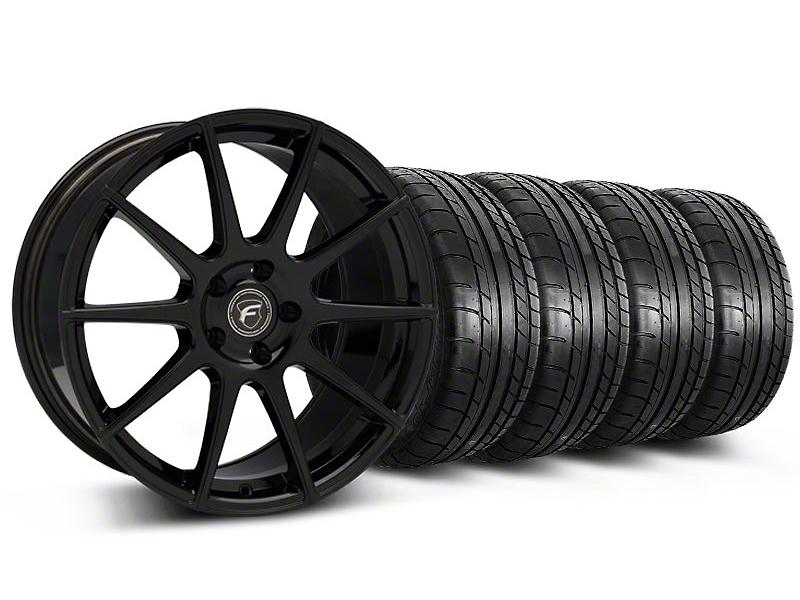 Forgestar CF10 Monoblock Piano Black Wheel & Mickey Thompson Tire Kit - 19x9 (05-14 All)