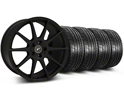 Forgestar CF10 Monoblock Textured Black Wheel & Mickey Thompson Tire Kit - 19x9 (05-14 All)