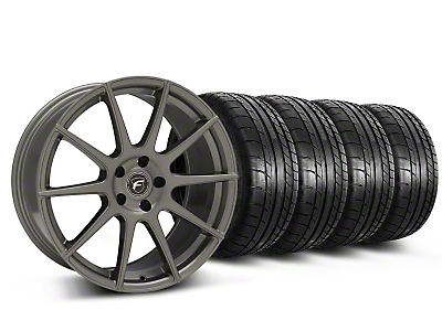 Forgestar CF10 Monoblock Gunmetal Wheel & Mickey Thompson Tire Kit - 19x9 (05-14 All)