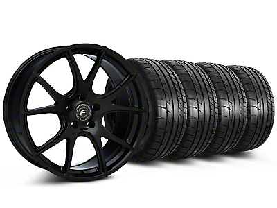 Forgestar CF5V Monoblock Piano Black Wheel & Mickey Thompson Tire Kit - 19x9 (05-14 All)