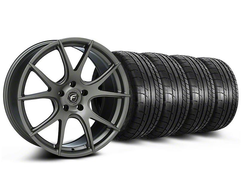 Forgestar CF5V Monoblock Gunmetal Wheel & Mickey Thompson Tire Kit - 19x9 (05-14 All)