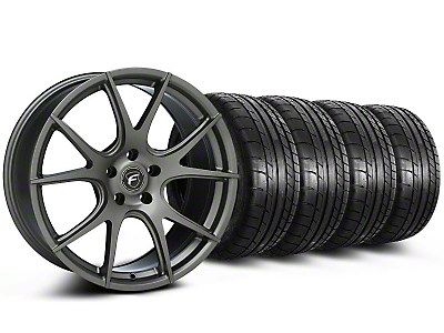 Forgestar CF5V Monoblock Gunmetal Wheel & Mickey Thompson Tire Kit - 19x9 (05-14 All)