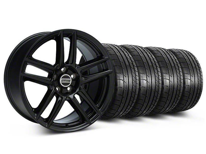 Laguna Seca Style Black Wheel & Mickey Thompson Tire Kit - 19x9 (05-14 All)