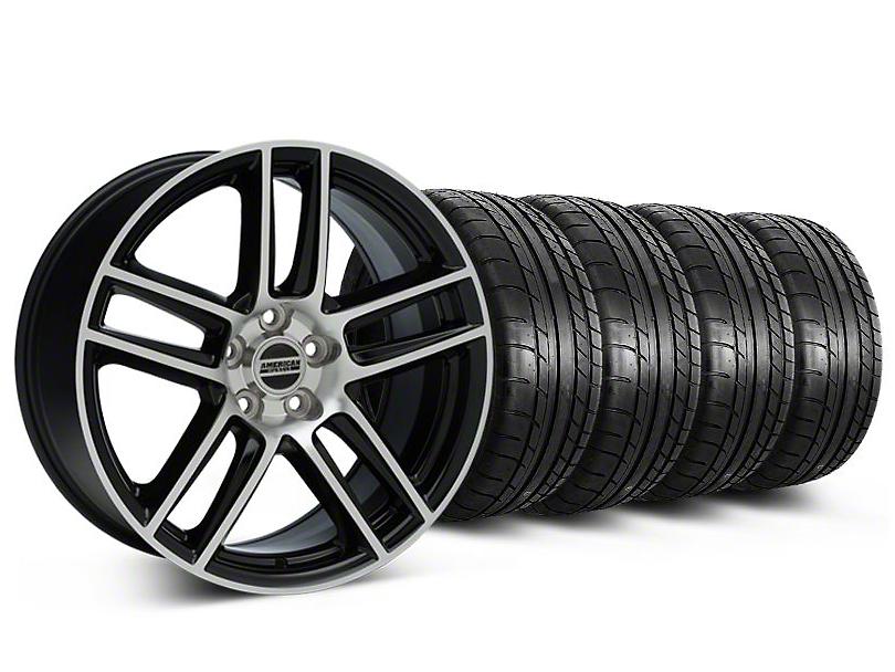 Laguna Seca Style Black Machined Wheel & Mickey Thompson Tire Kit - 19x9 (05-14 All)