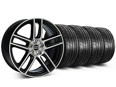 Boss Laguna Seca Black Machined Wheel & Mickey Thompson Tire Kit - 19x9 (05-14 All)