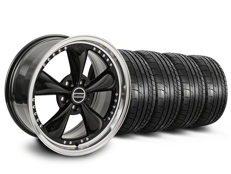 Bullitt Motorsport Black Wheel & Mickey Thompson Tire Kit - 20x8.5 (05-14 V6; 05-10 GT)