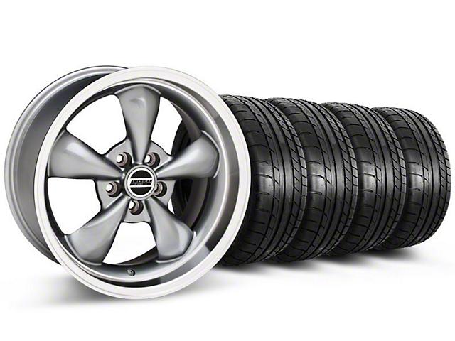 Deep Dish Bullitt Anthracite Wheel & Mickey Thompson Tire Kit - 20x8.5 (05-14 V6; 05-10 GT)