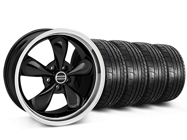 Deep Dish Bullitt Black Wheel & Mickey Thompson Tire Kit - 20x8.5 (05-14 V6; 05-10 GT)