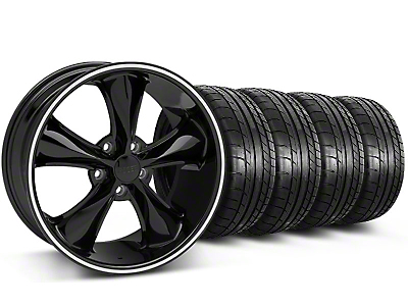Foose Legend Black Wheel & Mickey Thompson Tire Kit - 20x8.5 (05-14 GT, V6)