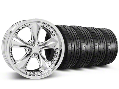 Foose Nitrous Chrome Wheel & Mickey Thompson Tire Kit - 20x8.5 (05-14 GT, V6)