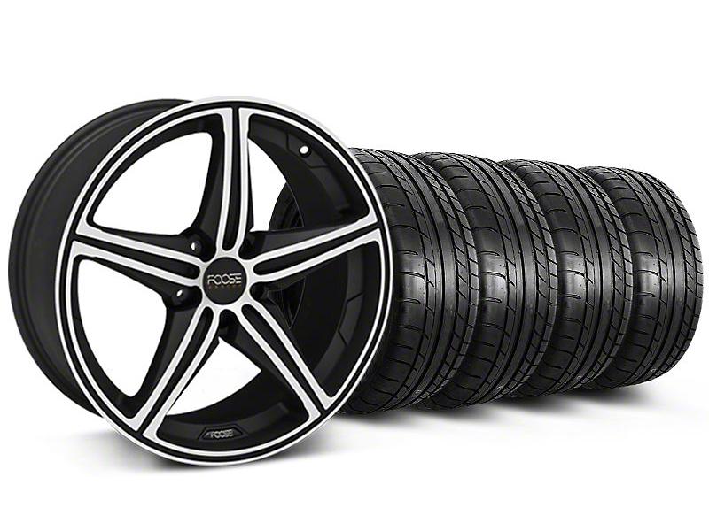 Foose Speed Black Machined Wheel & Mickey Thompson Tire Kit - 20x8.5 (05-14 GT, V6)