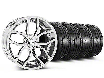 Foose Outcast Chrome Wheel & Mickey Thompson Tire Kit - 20x8.5 (05-14 GT GT, V6)