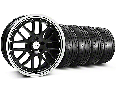 TSW Valencia Black w/ Polished Lip Wheel & Mickey Thompson Tire Kit - 20x8.5 (05-14 All)