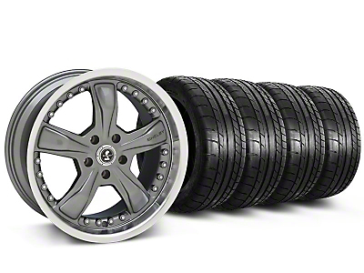 Shelby Razor Gunmetal Wheel & Mickey Thompson Tire Kit - 20x9 (05-14 GT, V6)