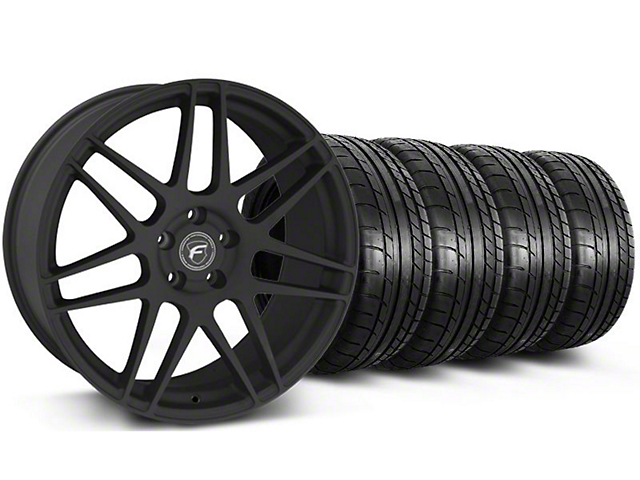 Forgestar F14 Monoblock Textured Black Wheel & Mickey Thompson Tire Kit - 20x9 (05-14)