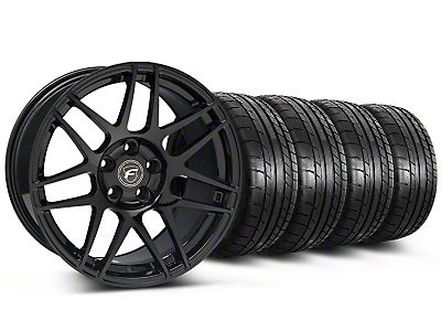 Forgestar F14 Monoblock Piano Black Forgestar F14 Monoblock Wheel & Mickey Thompson Tire Kit - 20x9 (05-14)