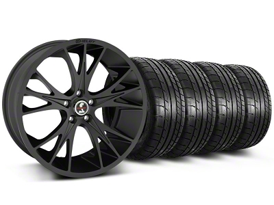 Shelby CS1 Matte Black Wheel & Mickey Thompson Tire Kit - 20x9 (05-14 All)
