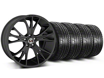 Shelby CS-1 Matte Black Wheel & Mickey Thompson Tire Kit - 20x9 (05-14 All)