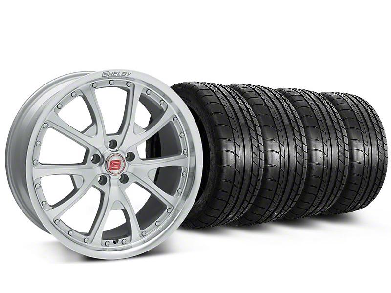 Shelby CS40 Silver Machined Wheel & Mickey Thompson Tire Kit - 20x9 (05-14)