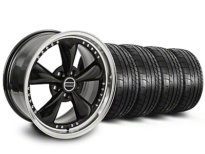 Bullitt Motorsport Black Wheel & NITTO INVO Tire Kit - 20x8.5 (05-10 GT, V6)
