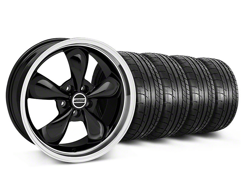 Deep Dish Bullitt Black Wheel & NITTO INVO Tire Kit - 20x8.5 (05-14 V6; 05-10 GT)