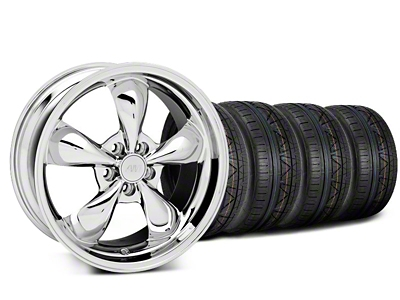 Deep Dish Bullitt Chrome Wheel & NITTO INVO Tire Kit - 20x8.5 (05-14 V6; 05-10 GT)
