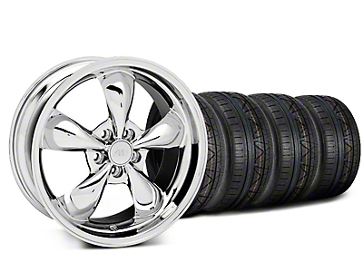 Deep Dish Bullitt Chrome Wheel & NITTO INVO Tire Kit - 20x8.5 (05-10 GT, V6)