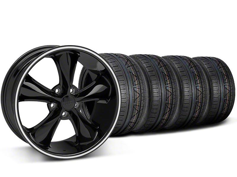 Foose Legend Black Wheel & NITTO INVO Tire Kit - 20x8.5 (05-14 GT, V6)