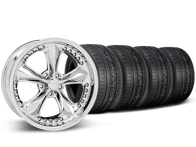 Foose Nitrous Chrome Wheel & NITTO INVO Tire Kit - 20x8.5 (05-14 GT, V6)
