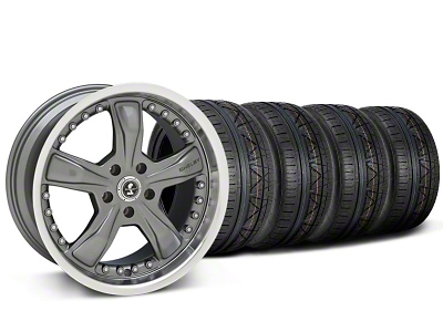 Shelby Razor Gunmetal Wheel & NITTO INVO Tire Kit - 20x9 (05-14 GT, V6)