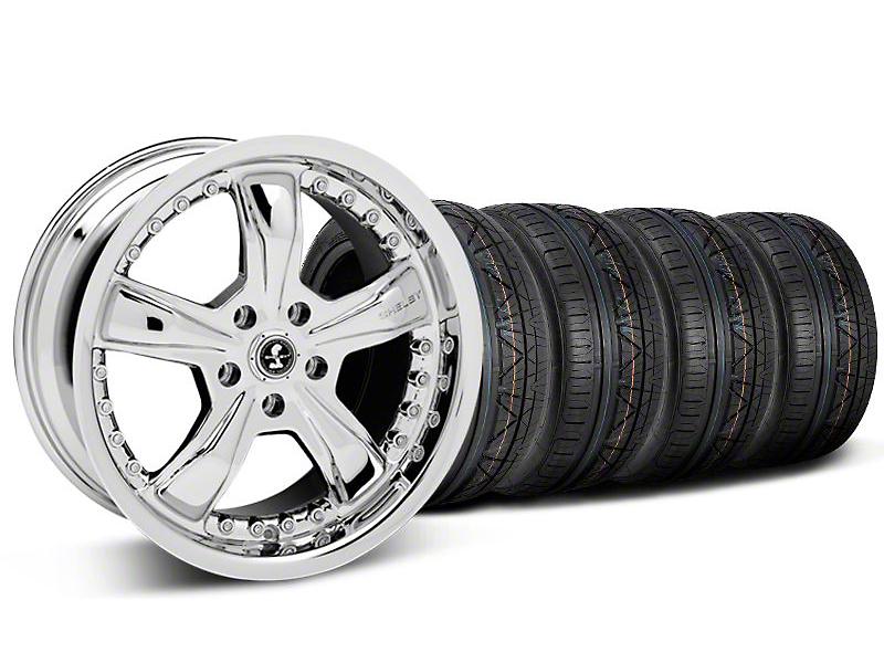 Shelby Razor Chrome Wheel & NITTO INVO Tire Kit - 20x9 (05-14 GT, V6)