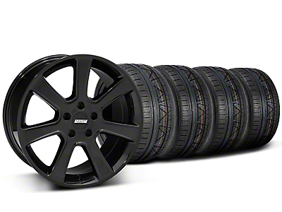 S197 Saleen Style Black Wheel & NITTO INVO Tire Kit - 20x9 (05-14 All)
