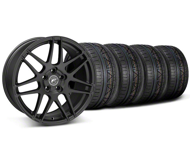 Forgestar F14 Monoblock Matte Black Wheel & NITTO INVO Tire Kit - 20x9 (05-14)